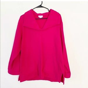 Soft Surroundings Pink Pullover Tunic Top Petite